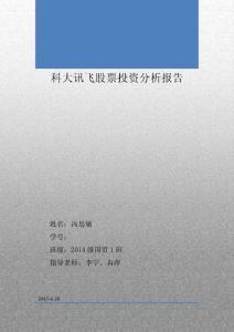 科大讯飞股票投资分析报告