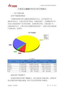 吉林敖东2018年财务分析详细报告-智泽华