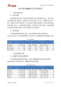 新兴铸管2018年经营风险报告-智泽华