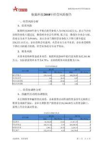 航锦科技2018年经营风险报告-智泽华