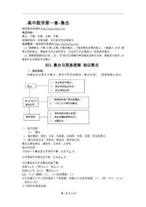 江苏省高中数学知识点总结