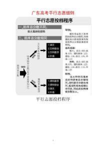 广东高考平行志愿细则