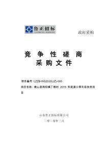 微山县南阳镇丁楼村2019年度渡口停车场扶贫项目竞争性磋商文件