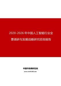 2020年中国人工智能行业全景调研与发展战略研究咨询报告