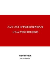 2020年中国打印服务器行业分析及发展前景预测报告
