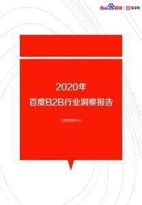 2020年B2B行业洞察报告百..