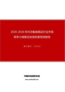 2020年内河集装箱运行业市场竞争力调查及投资前景预测报告