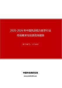 2020年中国风动扭力扳手行业市场需求与投资咨询报告