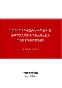 2020年中国内向-9-甲基-9-氮杂双环[3,3,1]壬烷-3-胺盐酸盐行业市场需求与投资咨询报告