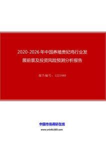 2020年中国养殖贵妃鸡行业发展前景及投资风险预测分析报告