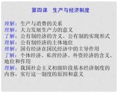 高考政治《经济生活》系统复习课件必修1第四课 生产与经济制度.ppt