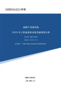 2020年工程起重机市场发展现状分析