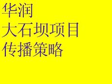 华润大石坝传播策略