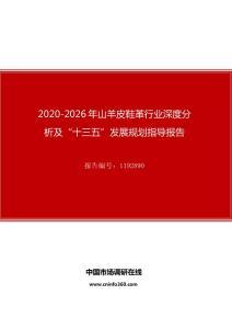 """2020年山羊皮鞋革行业深度分析及""""十四五""""发展规划指导报告"""