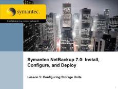 Symantec NetBackup 7.0备份软件官方培训文档PPT