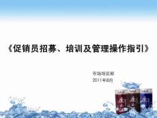 2011康正源促销员招募培训..