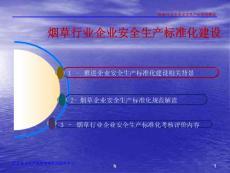 贵阳市局烟草行业企业安全生产标准化课件