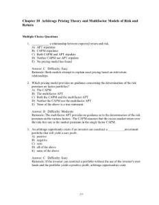 INVESTMENT 8TH TESTBANK CHAP10