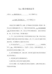 联合体协议书1修改