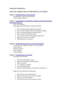 TLS guide to personal statement