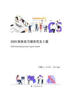 2020财务实习报告范文3篇