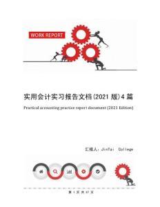 实用会计实习报告文档(2021版)4篇