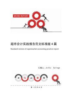 超市会计实践报告范文标准版4篇