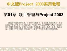 中文版Project 2003實用教程