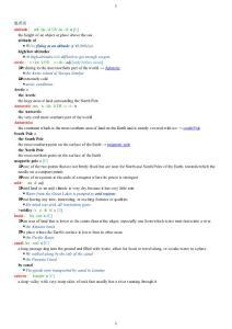 新托福聽力分類詞匯英英版——地理類