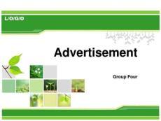 advertisement 英語廣告_生產經營管理_經管營銷_專業資料