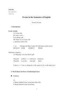 Events in the Semantics of English