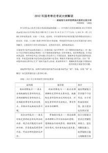 2012年国考申论考试大纲解读