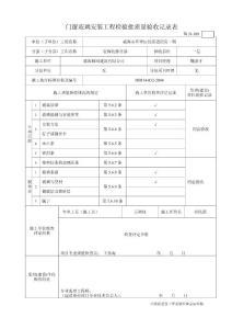 [建筑]鲁JJ-189门窗玻璃安装工程检验批质量验收记录表