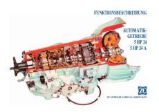 宝马 路虎5HP-24 ZF 自动变速器原版资料