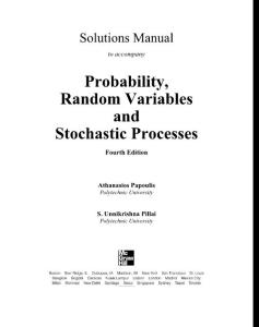 Probability  Random Variables and Stochastic Processes 4ed (Solutions Manual 186s)_Athanasios Papoulis