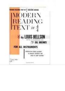 Modern Reading Text in 4-4 For All Instruments