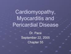 Cardiomyopathy  Myocarditis and Pericardial Disease