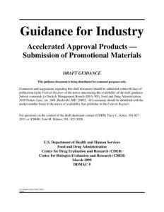 美国FDA指导原则(Advertising)