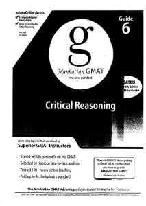 Manhattan GMAT Critical Reasoning 4th edition - Guide 6