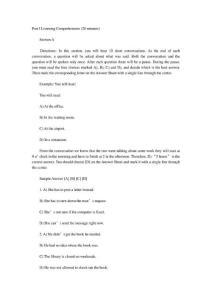 英语四级真题20021