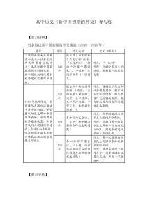 高中历史《新中国初期的外交》导与练