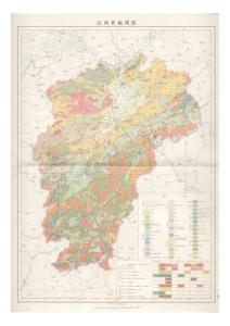 江西省地质图