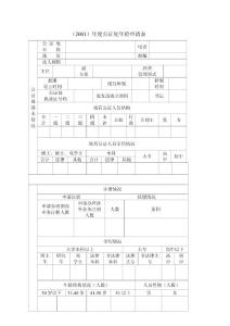 (2001)年度公证处年检申请表