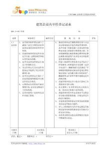 GBT50430内审检查表汇编