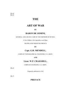 Baron de Jomini - The Art of War  1862