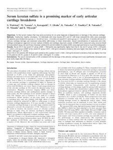 硫酸软骨素及硫酸角质素的药理作用研究资料汇集