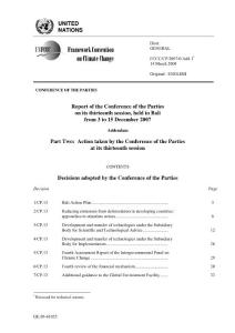Bali Action Plan