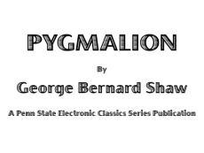 《Pygmalion》英文原版