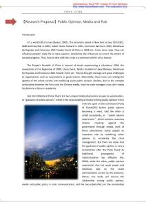 【Research Proposal】Public Opinion, Media and Pub