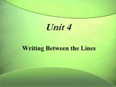 unit4 Writing Between the Lines